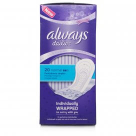 Always Dailies Normal Pantyliners Individually Wrapped
