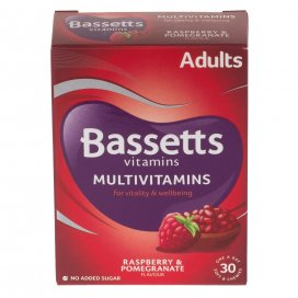 Bassetts Adult Raspberry & Pomegranate Soft & Chewies 30 Pack