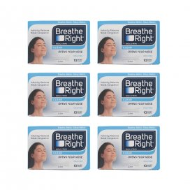 Breathe Right Nasal Strips Clear Small/Medium x6