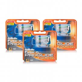 Gillette Fusion Proglide Power Replacement Blades Triple Pack (12 Cartrdiges)