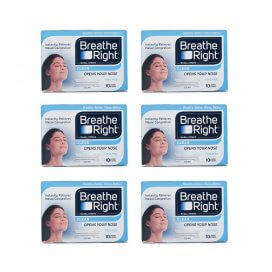 Breathe Right Nasal Strips Clear Large Strips x6