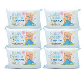 Baby Dream Baby Wipes Sensitive Six Pack