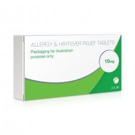 Allergy & Hayfever Relief Tablets Cetirizine x3