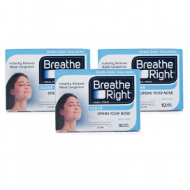 Breathe Right Nasal Strips Clear Large Strips Triple Pack