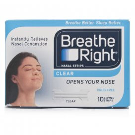 Breathe Right Nasal Strips Clear Small/Medium x8