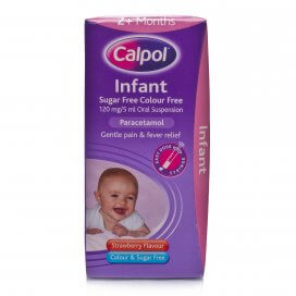 Calpol Infant Sugar Free Colour Free Oral Suspension