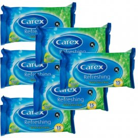 Carex Refreshing Soft Cleansing Wipes 6 Pack