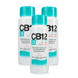 CB12 Mild Mint-Menthol Mouthwash Triple Pack