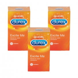 Durex Excite Me 12s Triple Pack
