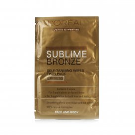 LOreal Paris Sublime Self-Tan Face and Body Wipes 2 x 5.6ml