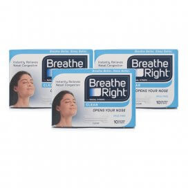 Breathe Right Nasal Strips Clear Small/Medium Triple Pack