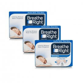 Breathe Right Nasal Strips Large 10 Strip x3