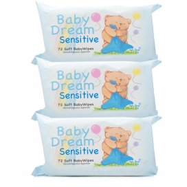 Baby Dream Baby Wipes Sensitive Triple Pack