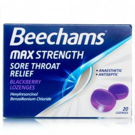 Beechams Max Throat Relief Lozenge Blackberry
